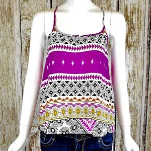 Old Navy Geometric High Low Strapless Shirt Size S